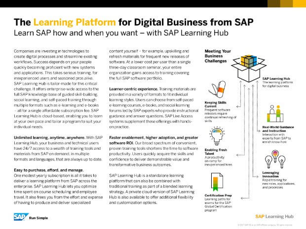Sap Learning Hub Ebook
